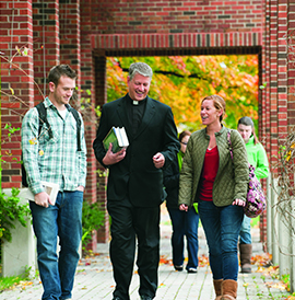 Students Outside Panasci Family Chapel