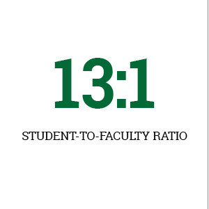 Le Moyne College's faculty to student ration is 13:1