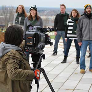Le Moyne Students and photographer